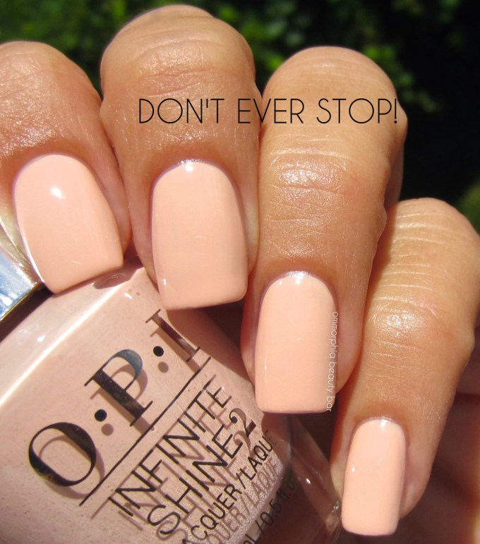 OPI Don't Ever Stop! swatch