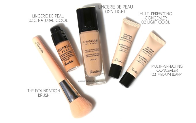 Guerlain foundation & concealers with brush