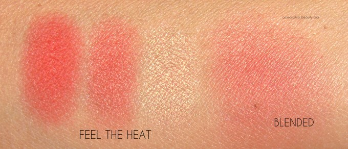 NYX Feel the Heat Ombré Blush swatches