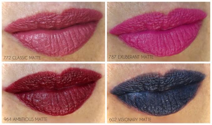 Dior Rouge Dior matte lipstick swatches