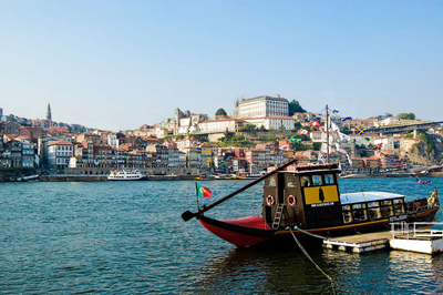 A view of the Portuguese city of Porto across a major river