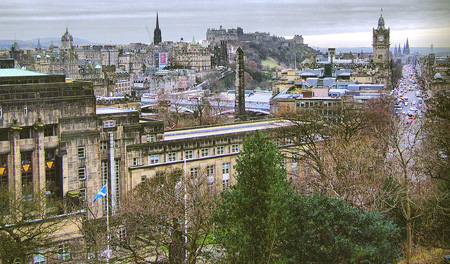 A view of the Edinburgh Town Centre