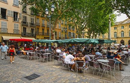 Cafes in the Aix-en-Provence Town Centre
