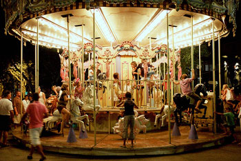 A carousel enjoyed by neighbourhood and visiting children in Aix-en-Provence