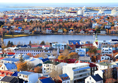 View of Reykjavík, the capital of Iceland