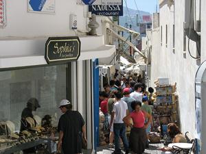 Pedestrian Street in Santorini