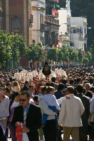 A Semana Santa parade in Seville