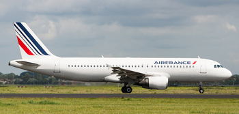 An Air France Airbus ready for takeoff