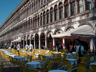 A cafe in St. Mark's Square in Venice