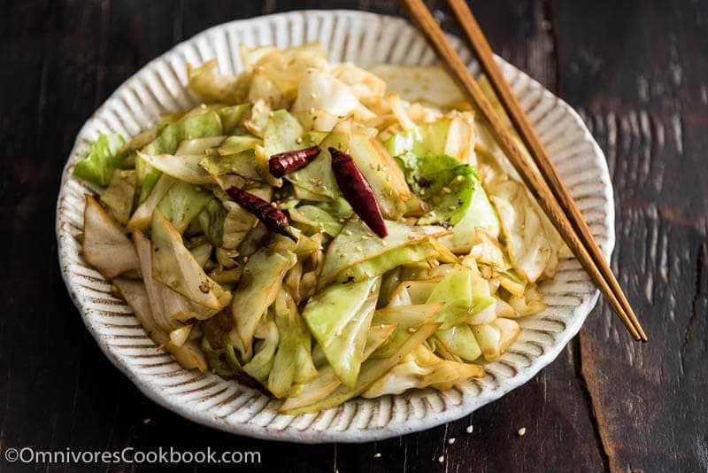 Chinese 4-Ingredient Fried Cabbage