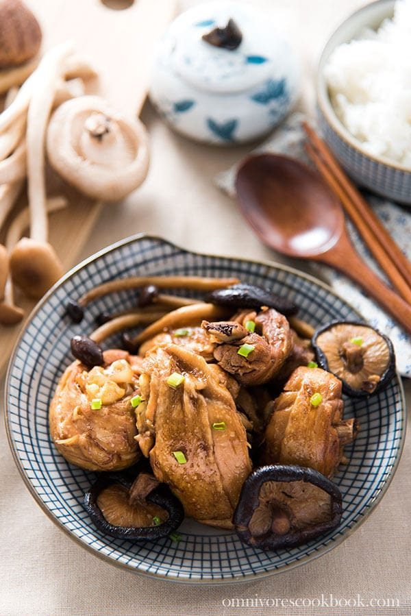 Mom's Best Braised Chicken with Mushrooms (小鸡炖蘑菇)