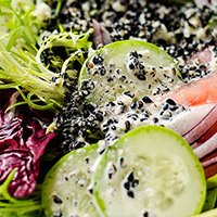 Black Sesame Salad Dressing