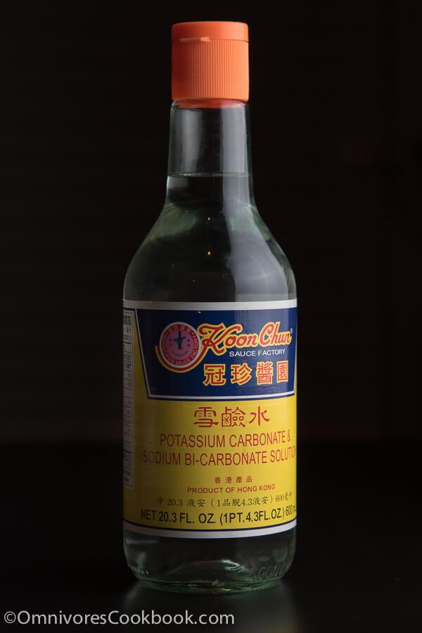 Kansui (lye water, alkaline solution, 枧水)
