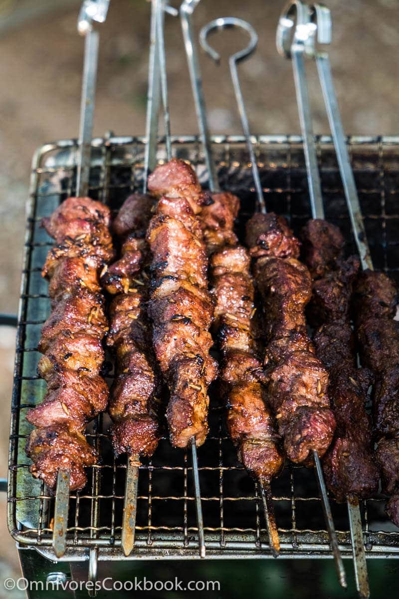 how to cook minted lamb skewers