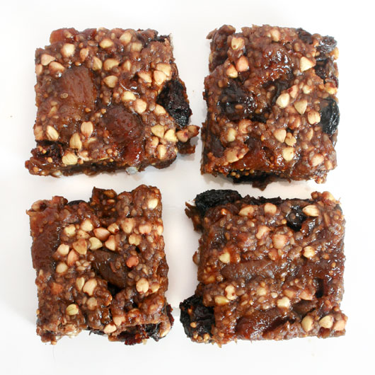 Spiced Fig & Buckwheat Bars