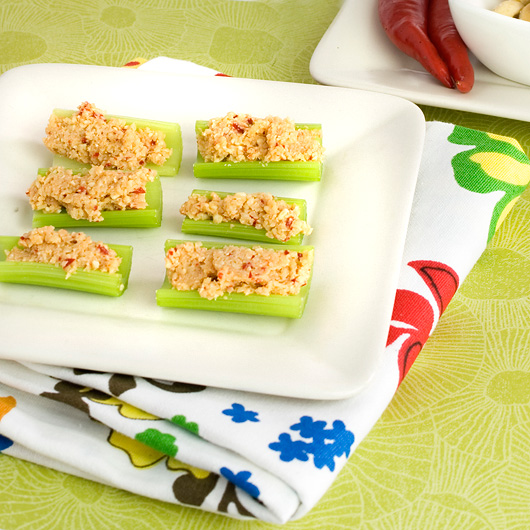 Celery Bites with Savoury Cashew Cheese
