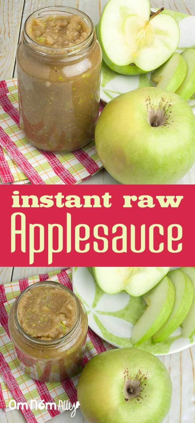 Instant Raw Applesauce @OmNomAlly