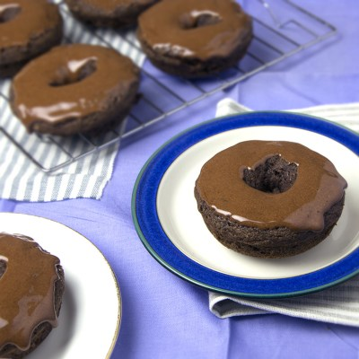 Grain-Free Chocolate Donuts + Protein Icing