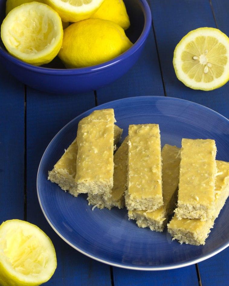 Pucker Up Lemon Protein Bars @OmNomAlly