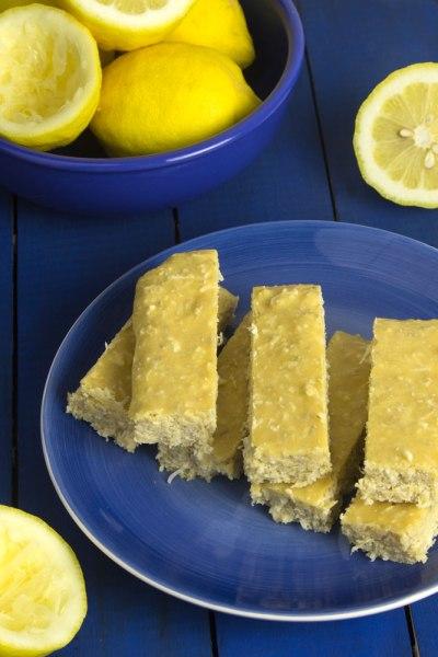 Pucker Up Lemon Coconut Protein Bars