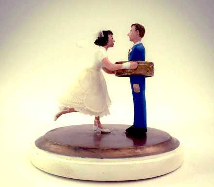 Custom made cake wedding cake topper.