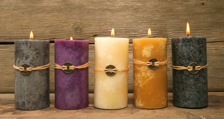 Five Feng Shui Candles_omtimes