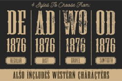 Small Of Old West Fonts