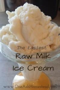 Raw Milk Ice Cream