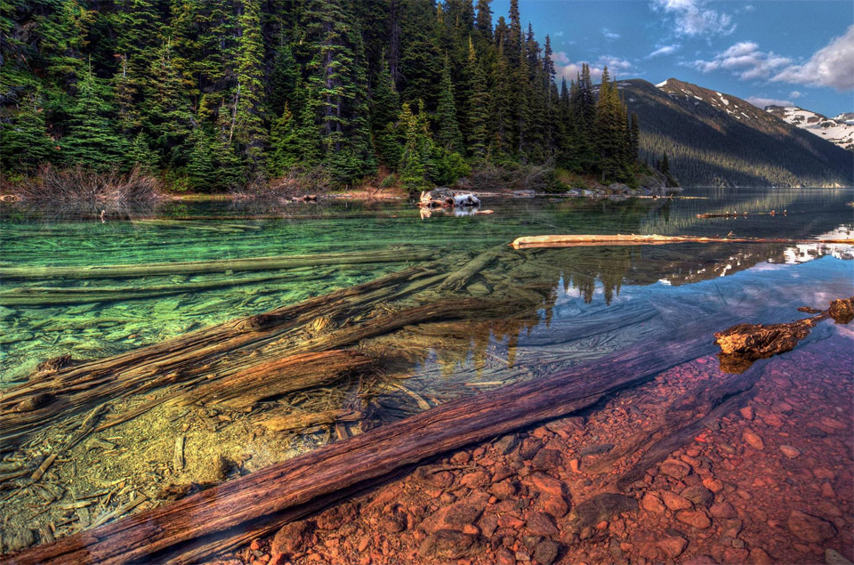 colorful garibaldi lake, british columbia