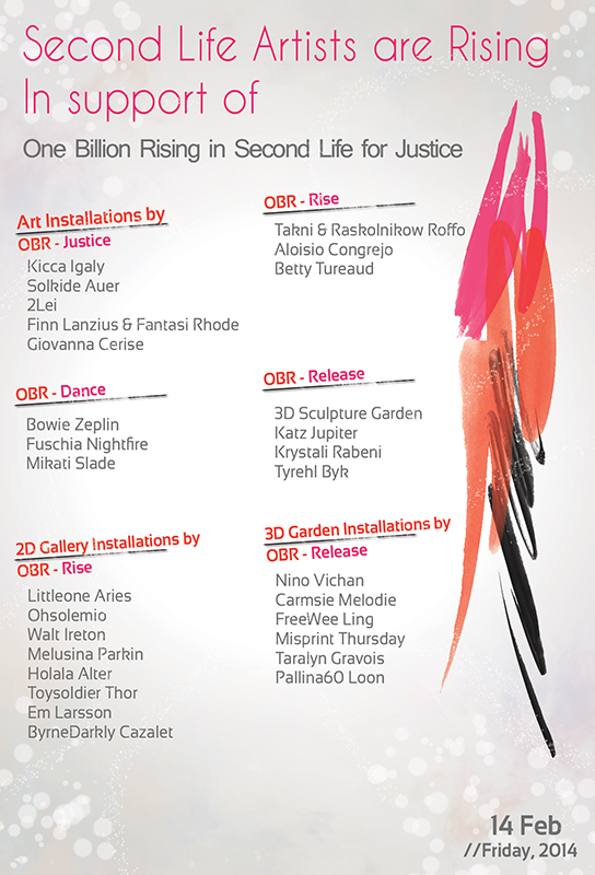 One Billion Rising Artists Flyer