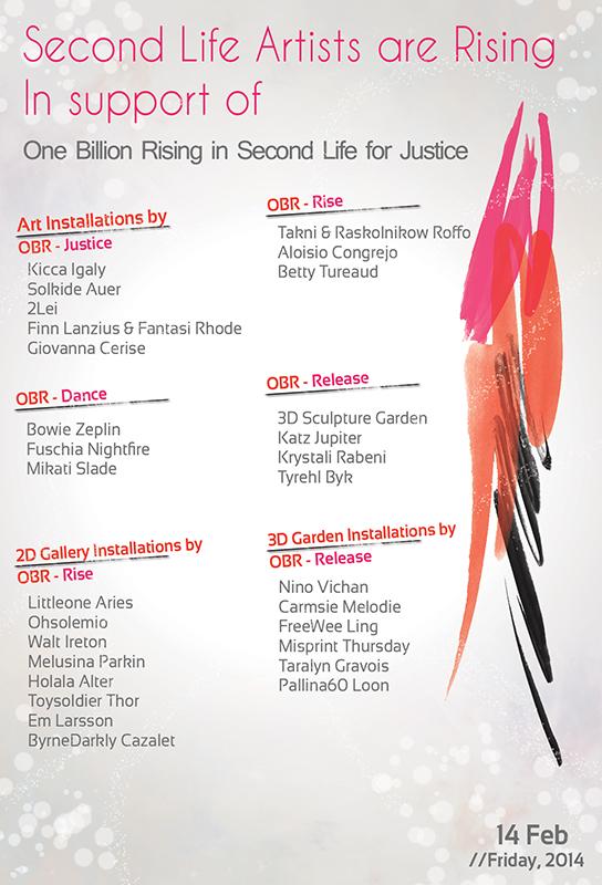 One Billion Rising Artists Flyer