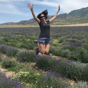 Jumping in Lavender Fields