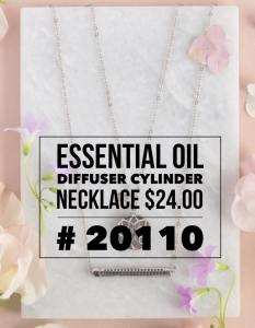 EO Diffuser or Cylinder Necklace