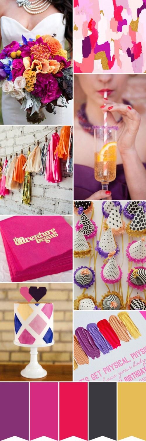 Medium Of Purple And Gold Wedding