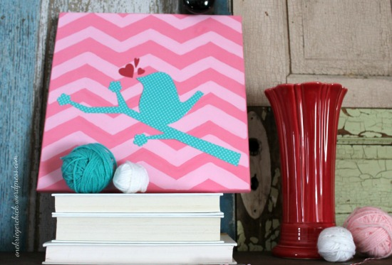 DIY Chevron Bird Canvas