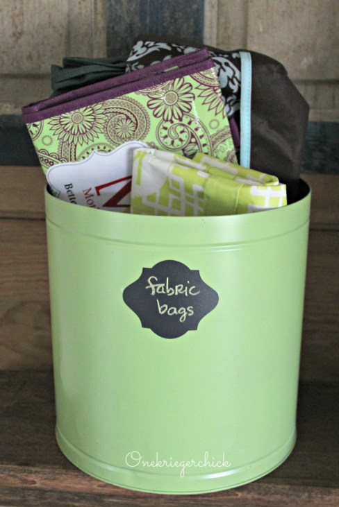 Popcorn tin to stylish organizer {Onekriegerchick.com}