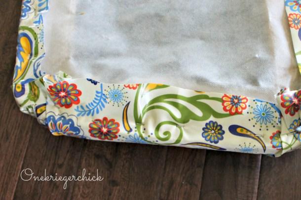 stapling cushion cover {Onekriegerchick.com}