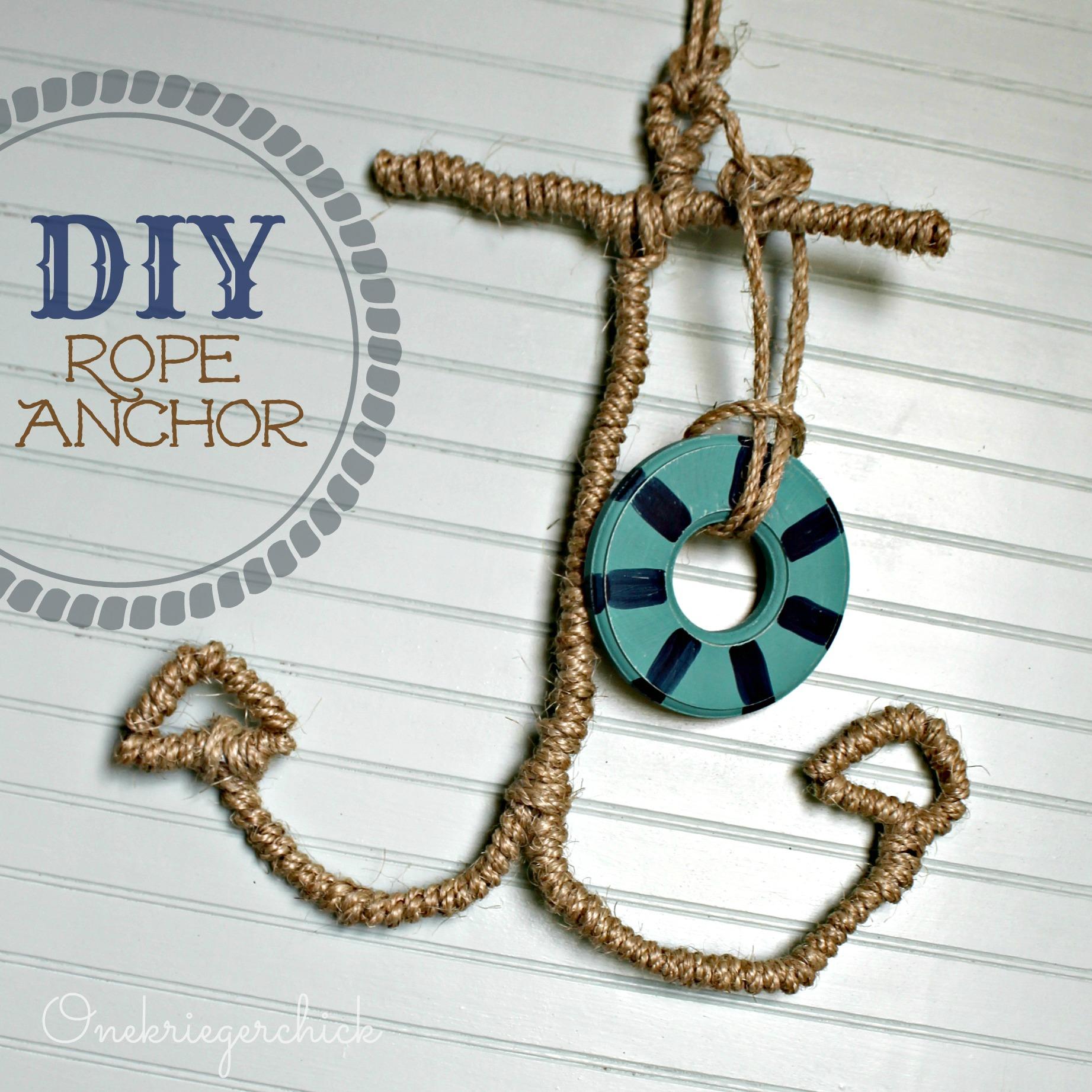 DIY Rope Anchor {Onekriegerchick.com}