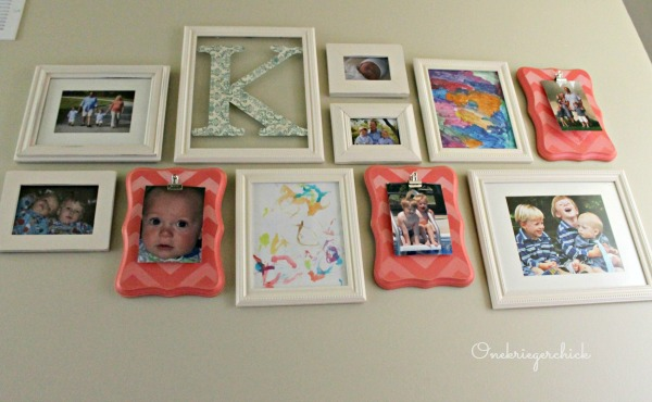 Family Gallery Wall {Onekriegerchick.com}