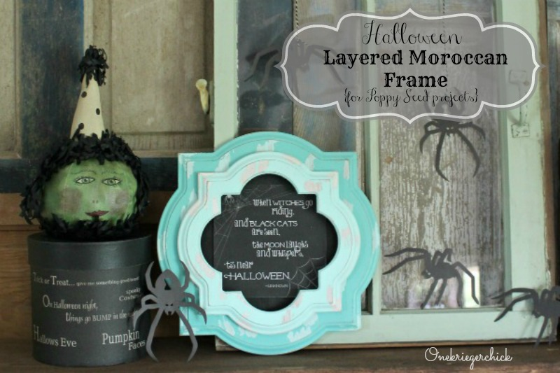 Distressed Moroccan frame tutorial for Poppy Seed Projects
