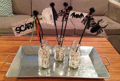Halloween wands...Fun kids craft!