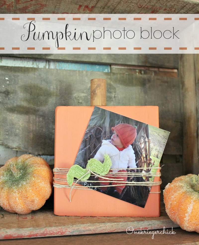 Pumpkin photo block...What a cute way to display photos!