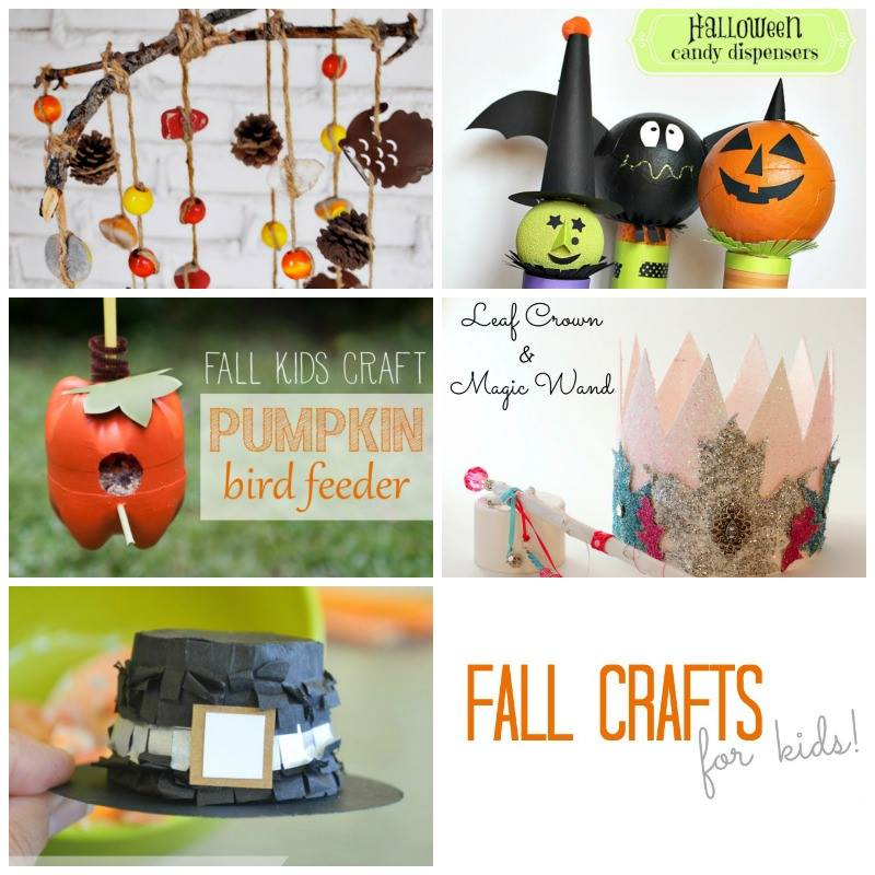 fall kids crafts collage)