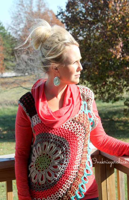 Fall color with Crochet and Paparazzi earrings