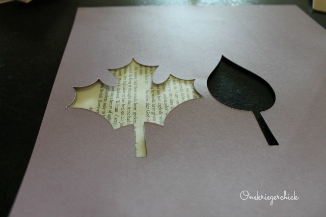 leaf cutout stencils for garland