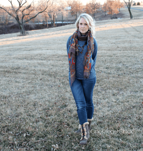 What I Wore Neutral- Stripes- Aztec- Denim