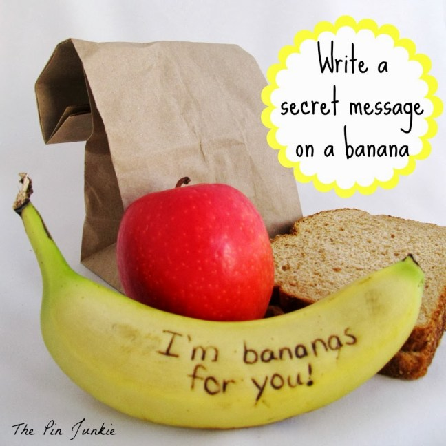 write a secret message on a banana