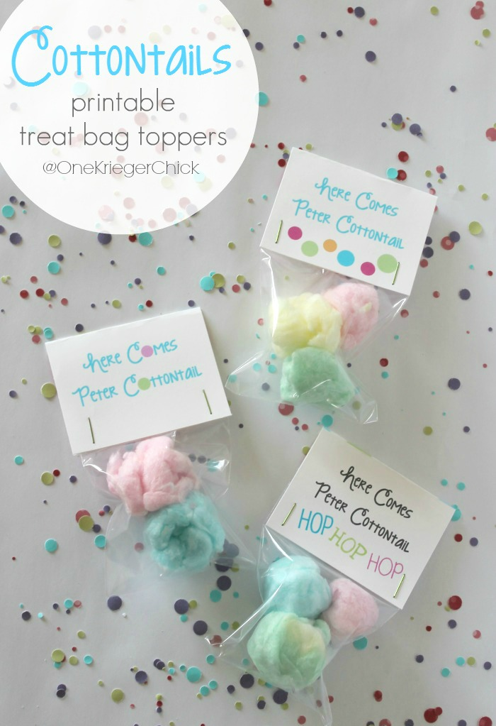 photograph regarding Free Printable Treat Bag Toppers known as Cottontail Snacks with printable bag topper - onekriegerchick