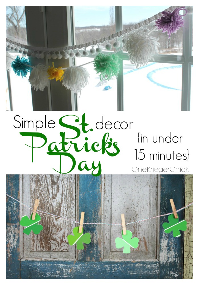 Simple St. Patrick's Day Decor in under 15 minutes!