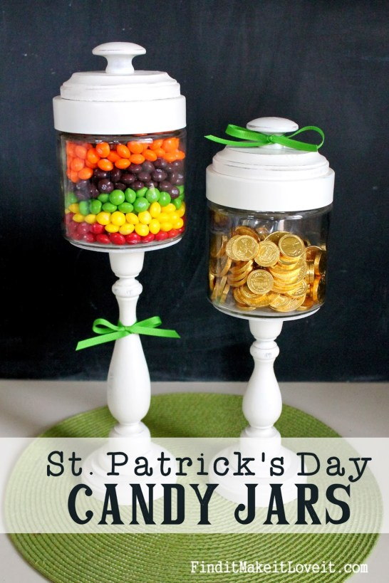 St patricks candy jars